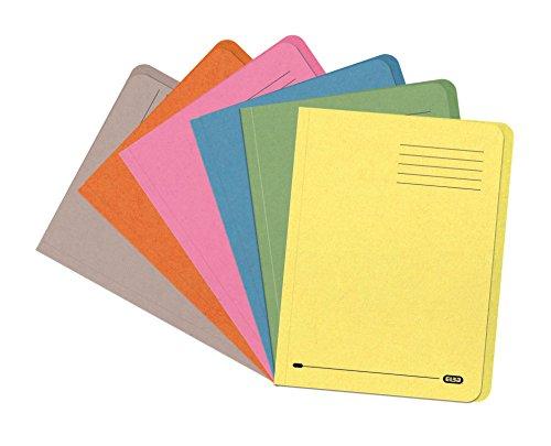Elba Bright Aktendeckel recycelt stark 290 g/m² Folio-Format 25 Stück farblich sortiert