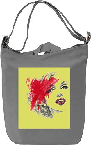 Woman Portrait Borsa Giornaliera Canvas Canvas Day Bag| 100% Premium Cotton Canvas| DTG Printing|