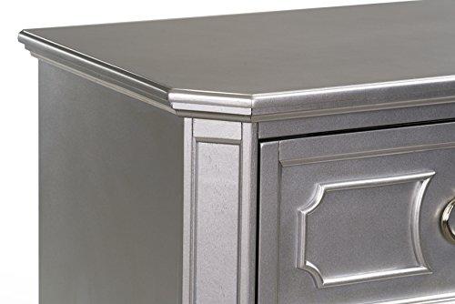 Standard Furniture Windsor Nightstand, Silver