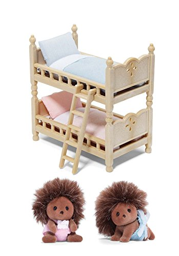 Calico Critters Pickleweeds Hedgehog Twin Babies with Bunk Beds
