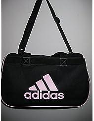 adidas small diablo duffle black / pink gym bag