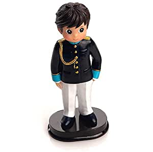 Figura para tarta de Comunión, niño con traje azul claro ...