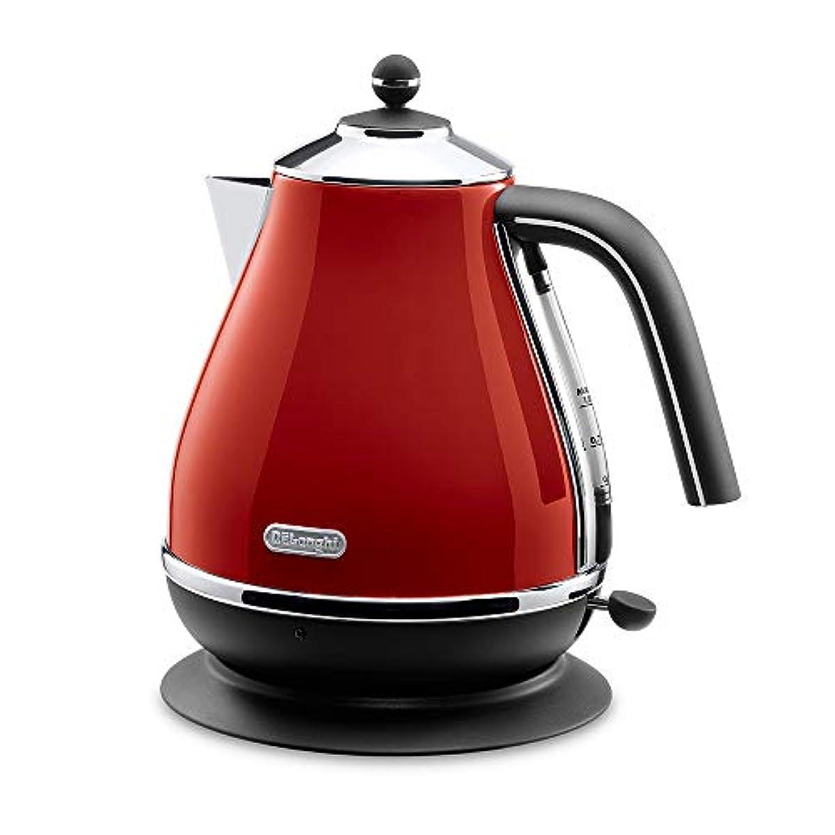 [해외] 드롱기(De'Longhi)(DELONGHI) 아이고나콜렉션 전기 주전자(케틀.kettle) 레드 1.0L KBO1200J-R