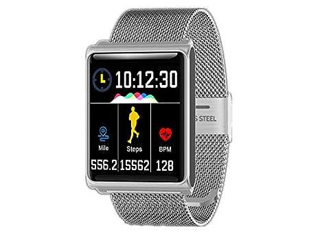 CQSMOO Relojes Inteligentes Pulsera Bluetooth con Reloj Inteligente de Monitor de Ritmo cardíaco para Mujeres Hombres