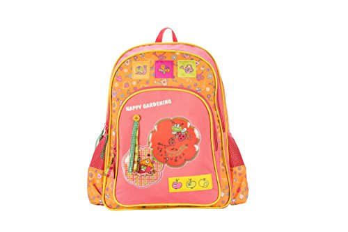 Genius Limited Edition Polyester 46 cms Orange and Pink Softsided Children's Backpack