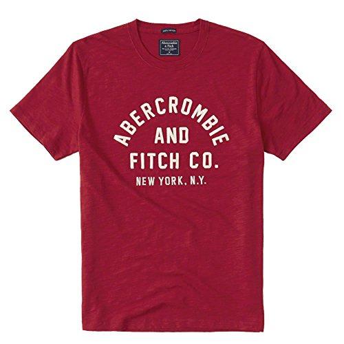 顕現愛情検出する(アバクロンビー & フィッチ) Abercrombie & Fitch メンズ Tシャツ (半袖) APPLIQUE LOGO TEE [並行輸入品]
