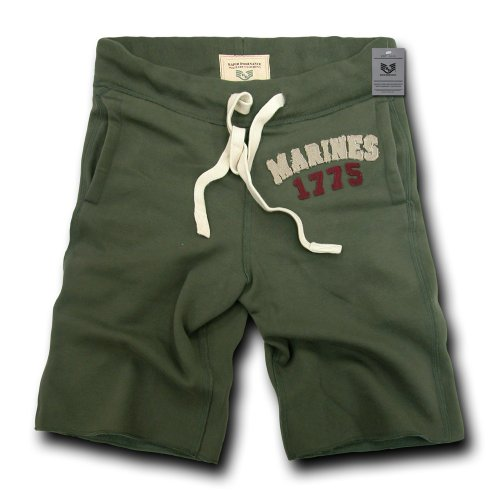 Rapiddominance Marines Normandy Fleece Shorts, Olive, X-Large ()