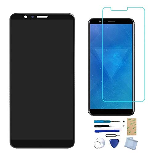 XR MARKET Compatible Honor 7X Screen Replacement, Huawei Mate SE LCD Display Touch Screen Digitizer Assembly, for BND-TL10/AL10/L21/L22/L24(NOT for Honor 7), with Tools (Black NO Frame + Honor Logo)