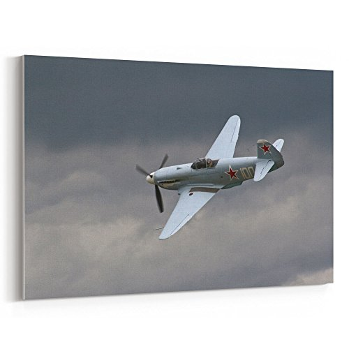Original Cockpit Bomber - Westlake Art Canvas Print Wall Art - Airplane Aircraft on Canvas Stretched Gallery Wrap - Modern Picture Photography Artwork - Ready to Hang - 5x7in