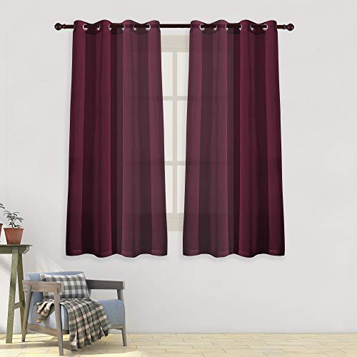 HUTO Sheer Curtains Voile Panels 63 inch Length- Solid Voile Ring Top Draperies for Living Room Bedroom Set of 2 Panels,52