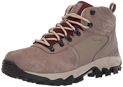 Columbia Men's Newton Ridge Plus II Suede Waterproof Boot Hiking, pebble, deep rust, 11.5 Regular US
