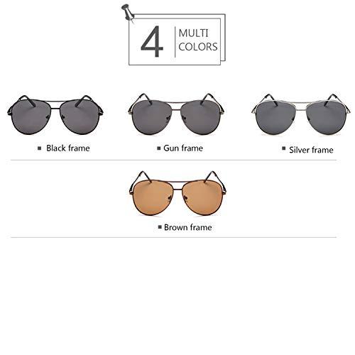 de Hombre Shopping 400 Brown Color Frame Black Go para UV Polarized Sol Gafas frame Aviator Easy Women 0BtRqt