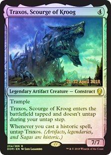 (Traxos, Scourge of Kroog - Foil - Dominaria - Prerelease Promo)