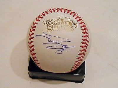 Jonny Gomes Signed 2013 World Series Baseball w/COA Boston Strong Red Sox by KdSignatures