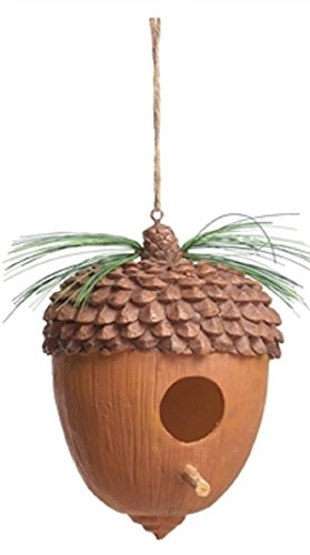 Acorn Resin Birdhouse with Peg and (Acorn Birdhouse)