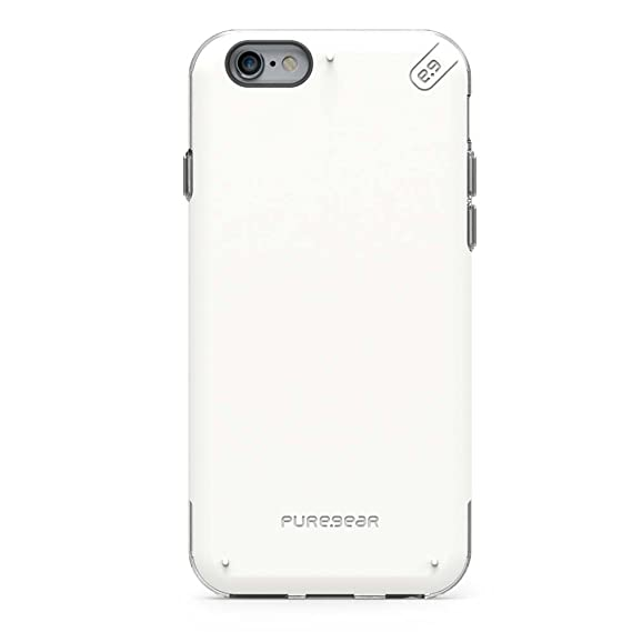 newest e9806 25034 PureGear DualTek PRO for iPhone 6s/6 - White/Clear