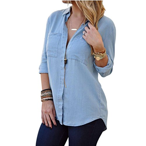 autumn-melody-stylish-women-denim-shirt-casual-blouses-size-l-us