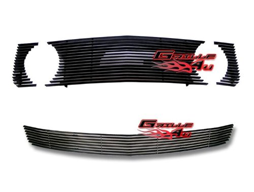 05-09 Ford Mustang GT V8 Black Billet Grille Grill Combo Insert (2008 Mustang Pony Emblem compare prices)