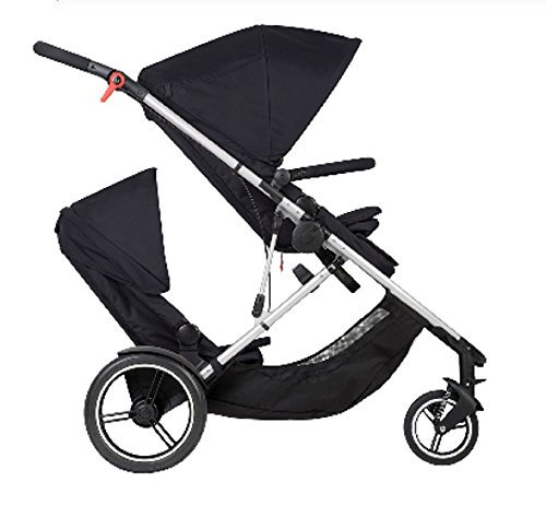 - Phil and Teds Voyager Stroller WITH Doubles Kit (Black)