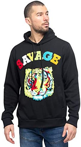 Victorious Savage Tiger Black Colorful TShirt Cotton Comfortable Casual Men/'s