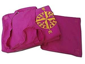 Toalla de playa medida de microfibra para cama de matrimonio, diseño de bolso de mano, color ROSA: Amazon.es: Hogar