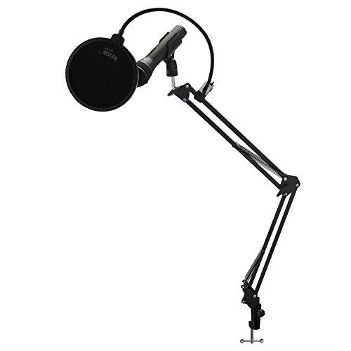 Samson Q2U Black Handheld Dynamic USB Microphone with Knox Boom Arm and Pop Filter