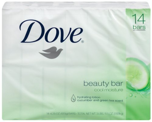 Dove go fresh Cool Moisture Beauty Bar, 4 Ounce Bars, 14 Count by Dove