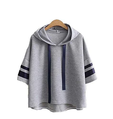 溶接ビジター統合PASA レディース Tシャツ パーカー トップス 長袖 5分袖 ブラウス カットソー ゆったり 無地