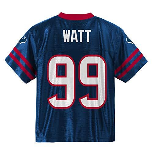 Outerstuff J.J. Watt Houston Texans #99 Navy Blue Youth Home Player Jersey (Medium 10/12)