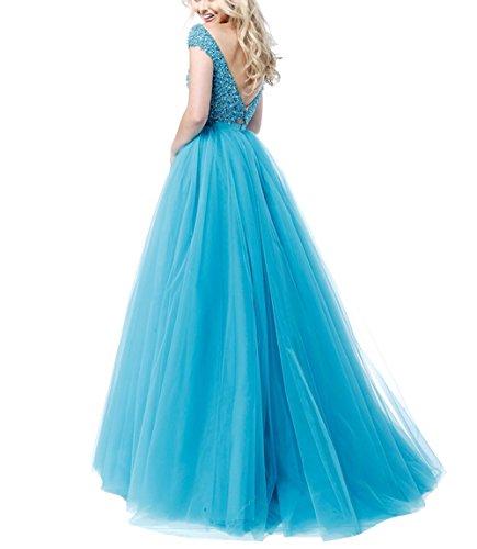 Kurzarm mia Abschlussballkleider Pailletten La A teilig Lang Blau Ballkleider Abendkleider Brau Zwei Linie Promkleider fXxwpwdq4