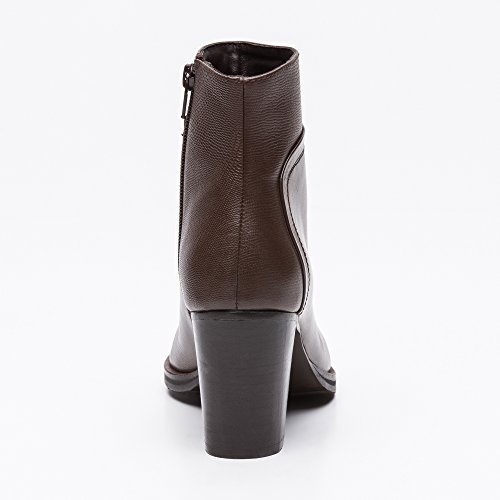 Zerimar Moka Leather Ankle Boots Mid Woman Woman Spring Boots Ankle Ankle Leather Heeled Boots Boots Women's for Ankle Women xxSZdUqrw