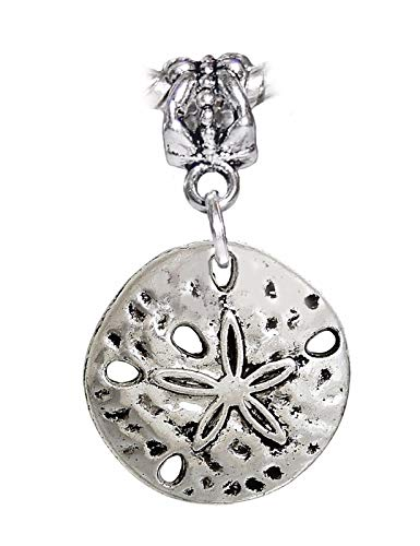 Sand Dollar Seashell Beach Shell Island Dangle Charm for European Bead Bracelets Crafting Key Chain Bracelet Necklace Jewelry Accessories Pendants