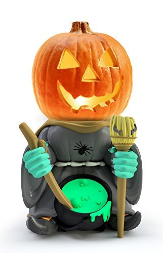 Indoor/Outdoor Halloween Decorations Witch Pumpkin Statue For Backyard, Lawn or Garden - Iconic, Hand Painted, Weatherproof, Creepy, Scary - Made Of Resin by 3B Global