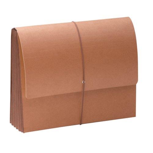Smead Tuff® portafolios, 5–1/4', con solapa y cierre de cordón, extra ancho de expansión tamaño carta, Redrope,...