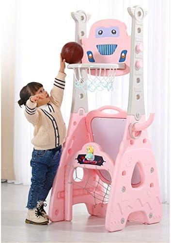 子供のバスケットボールスタンドは上昇し、多機能コンビネーションインドアゴルフダーツホーム赤ちゃんのおもちゃのボールフレームショットを低下させることができます