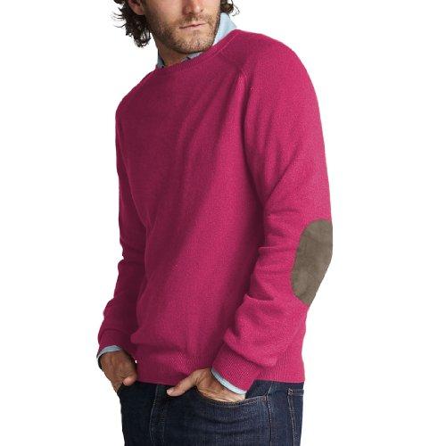 Parisbonbon Men's 100% Cashmere Elbow Pad Sweater Color P...