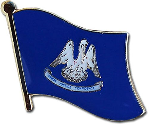 (Flagline Louisiana - State Lapel Pin)
