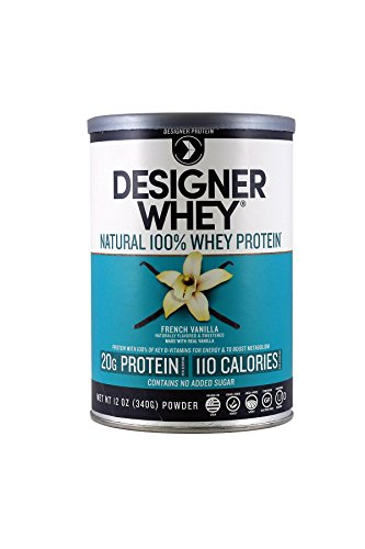 (Designer Protein 100% Premium Whey Protein Powder, French Vanilla, 12-Ounce (Pack of 2))