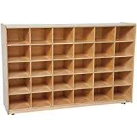 Wood Designs Natural 30 Tray Storage without Trays