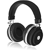 Audiomate BT980 Full-Size Wireless Bluetooth Stereo Over-Ear Headphones w/ Incredible HD Audio and TruBass Enhancement (Black)