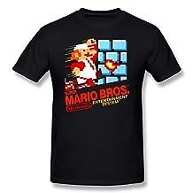ZHUYOUDAO Nintendo Super Mario Bros. T Shirt For Men Black S