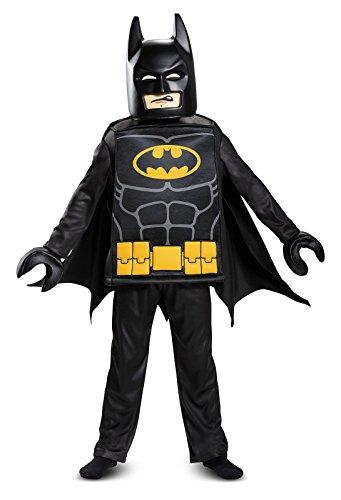 [Batman LEGO Movie Deluxe Costume, Black, Large (10-12)] (Best Batman Halloween Costumes)
