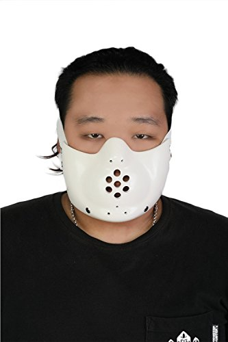 Hannibal Mask Lecter Face Mask Replica Props White Season 3 Soft Resin ()