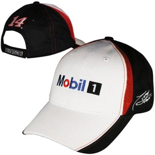 Tony Stewart # 14 Mobil 1 Nascar Checkered FlagファンUp調節可能な帽子/キャップ   B00IK54AZ8