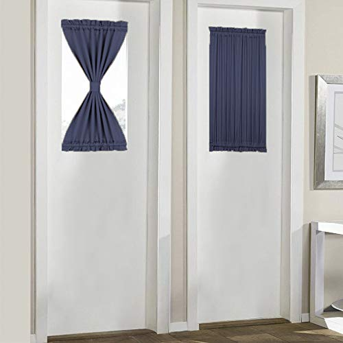 - PANOVOUS French Door Curtains for Small Windows Room Darkening Patio Door Thermal Curtain Panels Side Lights Door Panels 25x40 Inch Navy 1 Panel Curtains