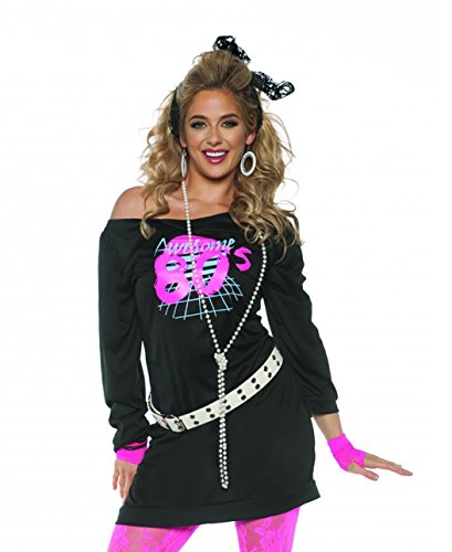 Underwraps Women's Awesome 80's Tunic - Black, Small