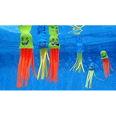 Pool Central Set of 6 Multicolor Jellyfish Slow Sinking Dive Game 5