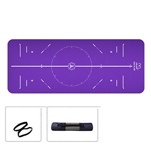 Tapis de yoga, tapis de fitness débutant Thicken Widen Lengthen Tapis d'exercice anti-dérapant ( Couleur : #1 , taille : 10MM )