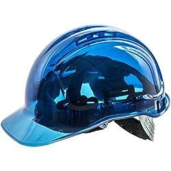 Pico View translúcido duro sombrero–Non Vented, PV54BLU, Azul