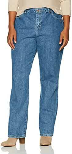 1f45e2434b1 LEE Women s Plus Size Relaxed Fit All Cotton Straight Leg Jean